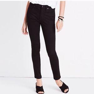 Madewell black isko high rise skinny jeans